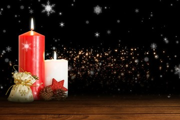 Composite image of christmas candles