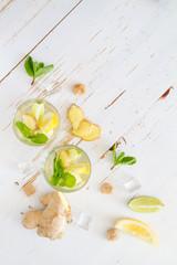 Ginger lemonade ingredients