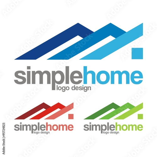 Simple home creative logo abstract design stock image for Minimalist house logo