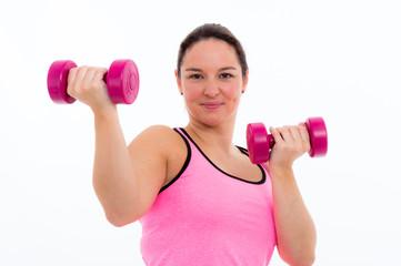 studentin macht fitness übungen