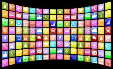 Application Apps App Icon Icons Multimedia Sammlung für Handy o
