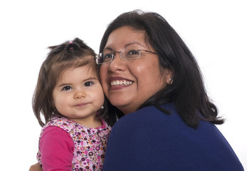 Peruanische Mutter mit ihrem Kind