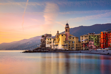 Beautiful Small Mediterranean Town at the sunrise time -