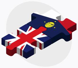 United Kingdom and Wake Island Flags