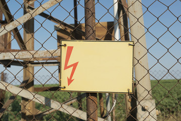 Warning sign high voltage