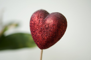 Defocused red heart bokeh