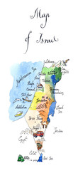 Map Israel attractions