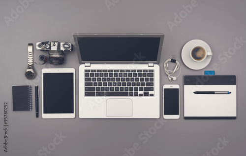 """""""Top view office style desk"""" Stock photo and royalty-free ..."""