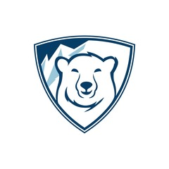 Wall Mural - polar bears shield