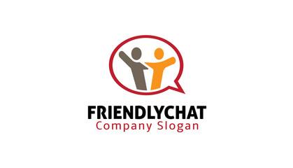 Friendly Chat Design Illustration