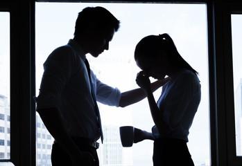 Business, teamwork, crisis concept