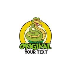 Snake Cartoon Vintage