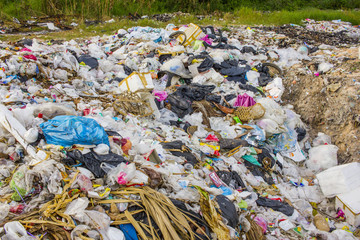 Waste at a landfill site - garbage crisis