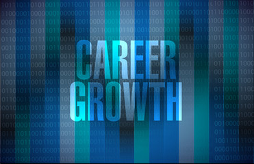Career Growth binary sign concept