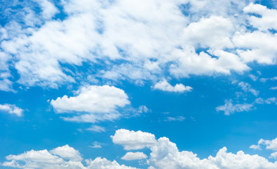 Blue sky with cloud in sunny day,Natural background