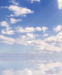 reflets de ciel sur mer