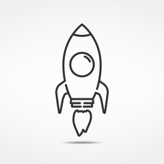 Rocket Line Icon