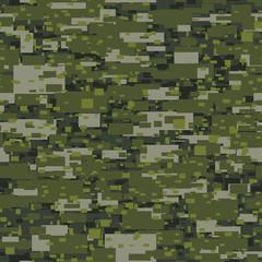 Camouflage urban disruptive block khaki seamless pattern