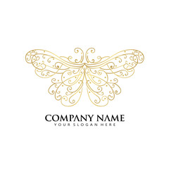 ornament Butterfly logo icon