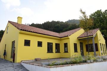 노랜색의 예쁜 건물