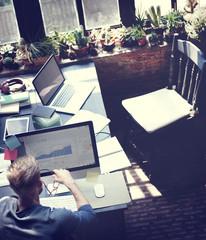 Businessman Determine Ideas Working Plan Concept