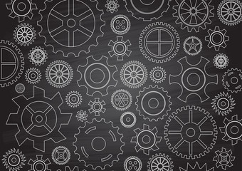 Illustrated vector Cogs