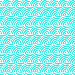 Curved lines in a seamless pattern