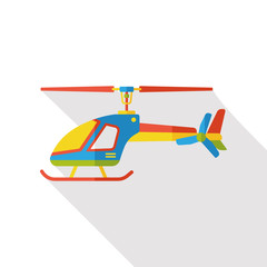 helicopter flat icon