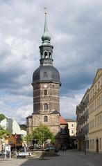 St.Johanniskirche in town Bad Schandau, Saxon Switzerland, Germany.
