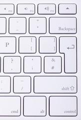 Aluminium keyboard close up