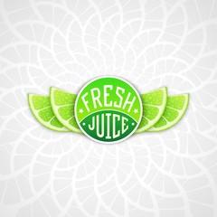 Fresh juice label