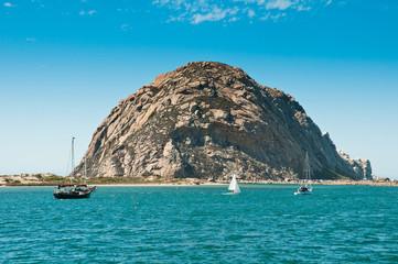 Fototapete - Morro Rock in Morro Bay, California