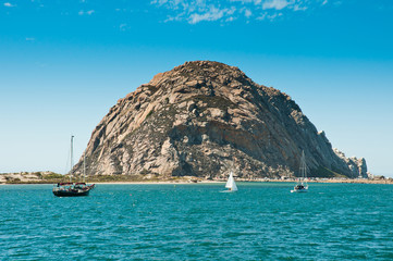 Morro Rock in Morro Bay, California