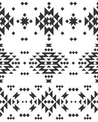 Vector Geometric background, Tribal seamless pattern