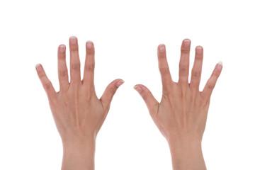 hands show the number ten