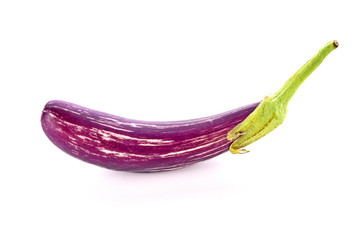 Wall Mural - Purple Eggplant on white background