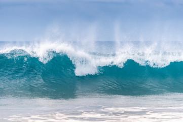 Powerful ocean waves