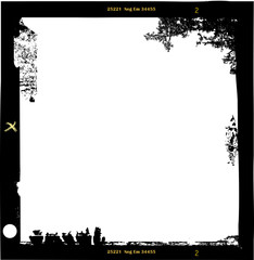 Wall Mural - medium frormat empty photo frame,with free copy space,vector ill