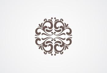 Circle ornament logo vector