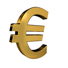 Gold Colored Euro Symbol