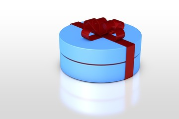 one blue gift box