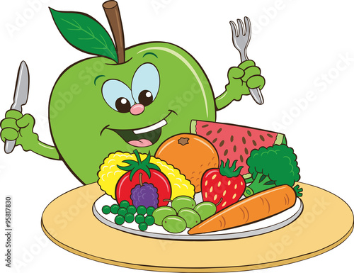 Quot Healthy Eating Cartoon Quot Stock Image And Royalty Free