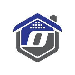 O Property Logo Vector