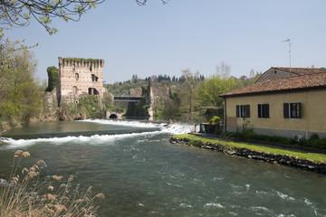 Visconteo bridge at Borghetto sul Mincio, Veneto, Italy