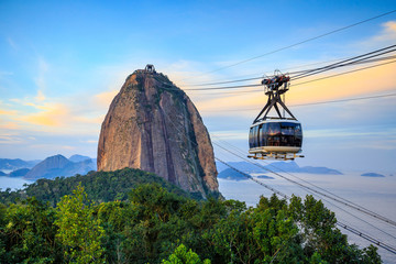 Cable car and  Sugar Loaf mountain Wall mural
