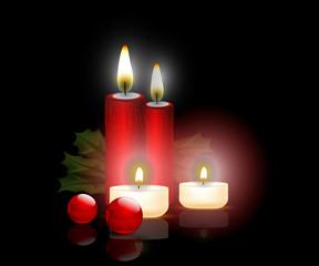 candeline, vischio, natale, decorazione, luce