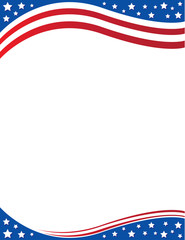 Patriotic Letterhead Background