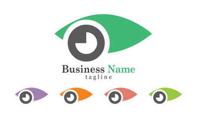 Eye Icon Logo With Five Color Options