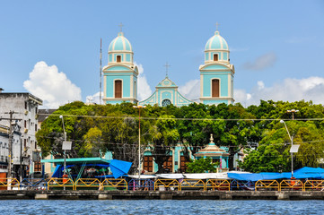 The view of Santarem in the Amazon Rainforest, Brazil