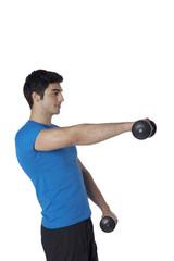 gym mat male model